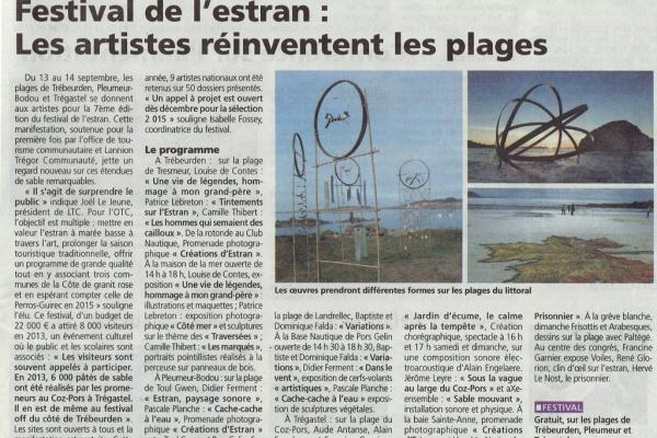 Le Festival de l'estran dans le journal Le Trégor