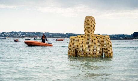 Géant de l'Estran, de Cyrille André Festival d'art de l'Estran 2019 @lalanternestudio